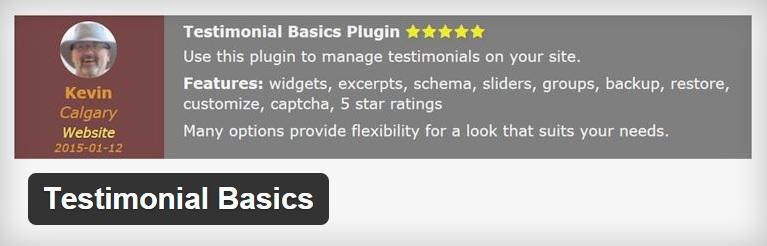Testimonial Basics Plugin