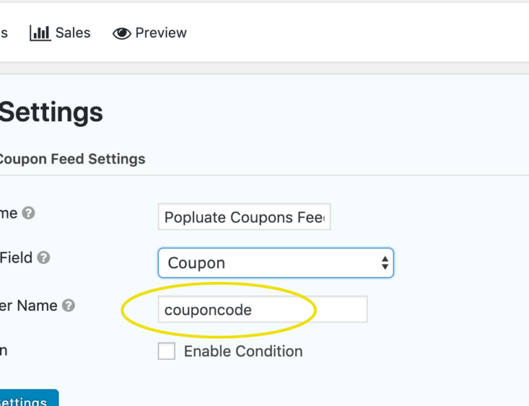 Gravity Forms Dynamic Coupon Code Populate Feed Parameter