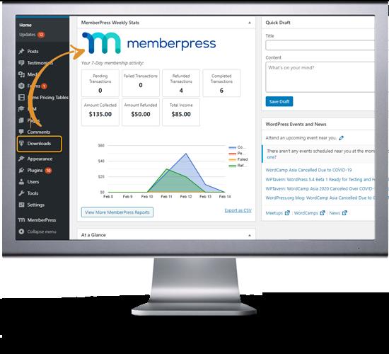 easy digital downloads memberpress