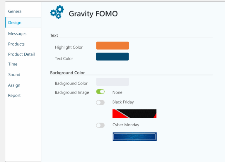 gravity fomo design