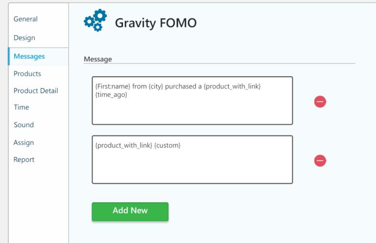 gravity fomo message details